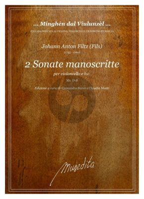 Filtz 2 Sonate manoscritte Violoncello e Bc (edited by Alessandro Bares and Claudia Monti)