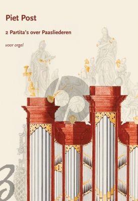 Post 2 Partita's over Paasliederen Orgel