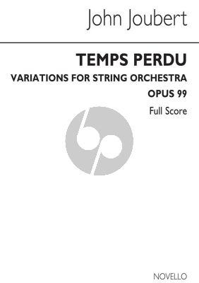 Joubert Temps Perdu Op. 99 String Orchestra Study Score (Variations)