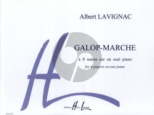 Lavignac Galop Marche Piano 8 Hands (4 Players at One Piano)
