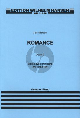 Nielsen Romance Op.2 Violin and Piano (Edited by Hans Sitt)
