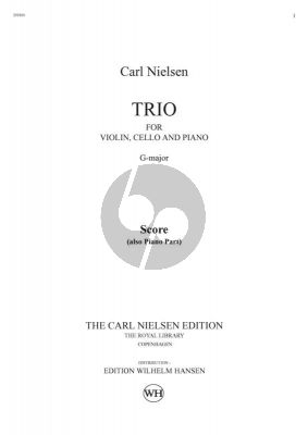 Nielsen Trio No.1 G Major (1883) for Violin Cello and Piano