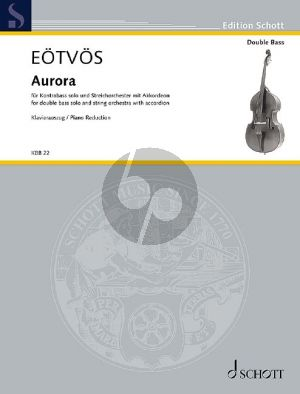 Eotvos Aurora for Double Bass solo-String Orchestra with Accordion