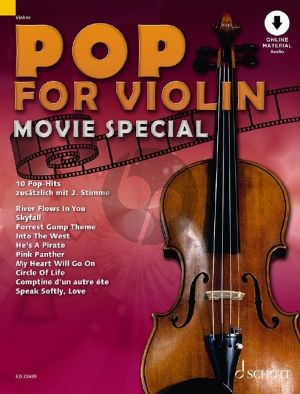 Pop for Violin - Movie Special 1 - 2 Violins (Book with Audio online) (edited by Michael Zlanabitnig)