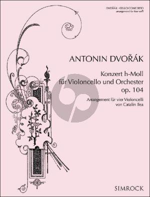 Dvorak Cello Concerto Op. 104 for 4 Cellos (Score/Parts) (transcr. by Catalin Ilea)
