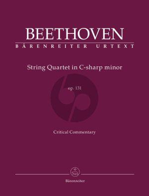String Quartet in C-sharp minor Op. 131 (Critical commentary) (Jonathan Del Mar)
