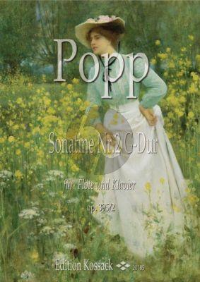 Popp Sonatine D-dur Op. 395 No. 2 Flöte und Klavier