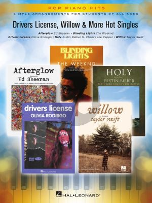 Drivers License, Willow & More Hot Singles Piano (Pop Piano Hits Series)
