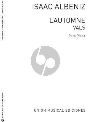 Albeniz L'Automne Vals Op.170 Piano