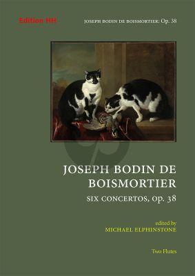 Boismortier 6 concertos Op. 38 2 Flutes (Score/Parts) (edited by Michael Elphinstone)