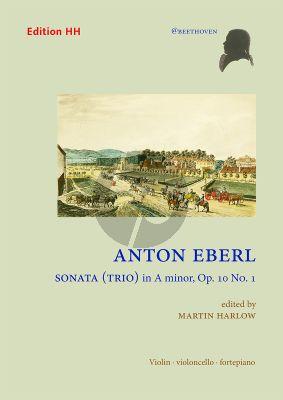 Eberl Sonata (Trio) A-minor Op. 10 No. 1 Violin-Cello and Piano (Score/Parts) (edited by Martin Harlow)