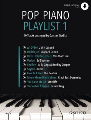 Pop Piano Playlist 1 (Book with Audio online) (edited by Carsten Gerlitz)