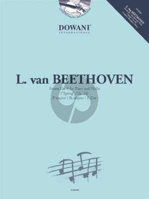 "Beethoven Sonata F-major Op. 24 ""Spring"" Violin and Piano (Book with CD and Audio online) (Dowani 3 Tempi Play-Along)"
