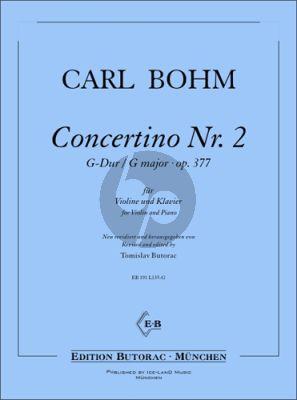 Bohm Concertino G-Dur No. 2 Op. 377 fur Violine und Klavier (Tomislav Butorac)
