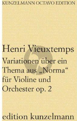 """Vieuxtemps Variationen über ein Thema aus """"Norma"""" Op. 2 Violine und Orchester (Partitur) (Olaf Adler)"""