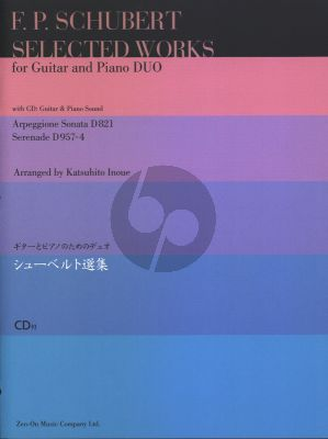 Schubert Collected Works for Guitar and Piano Book with Cd (arranged by Katsuhito Inoue) Nabestellen