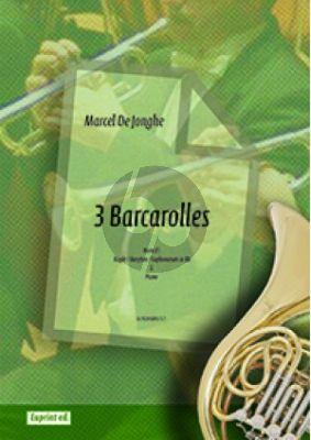 Jonghe 3 Barcarolles Horn (F) / Bugle (Bb) / Baryton (Bb) / Euph (Bb) and Piano