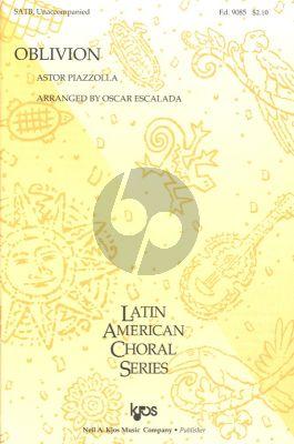 Piazzolla Oblivion SATB a Cappella (Arranged by Oscar Escalada)