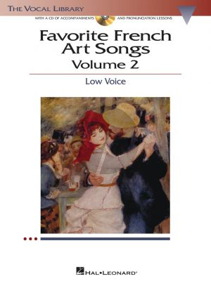 Album Favorite French Art Songs Vol.2 Low Voice Bk with Cd