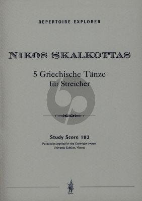 Skalkottas 5 Griechische Tanze fur Streichorchester Studienpartitur