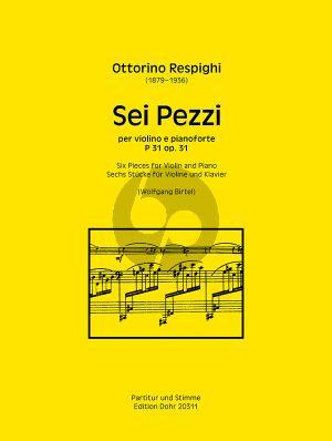 Respighi 6 Pezzi Op. 31 Violine und Klavier (Wolfgang Birtel)