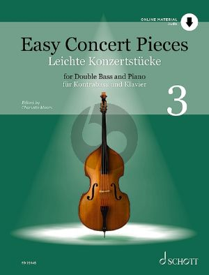 Easy Concert Pieces Vol. 3 Double Bass and Piano (Book with Audio online) (edited by Charlotte Mohrs)