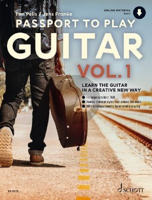 Franke-Pells Passport to Play Guitar Vol. 1 (Learn the Guitar in a creative new way) (Book with Audio online)