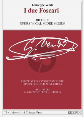 Verdi I due Foscari Vocal Score (it./engl.) (edited by Andreas Giger)