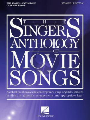 The Singer's Anthology of Movie Songs Women's Edition