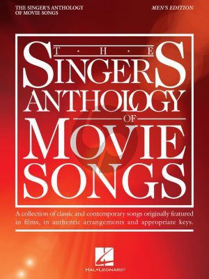 The Singer's Anthology of Movie Songs Men's Edition