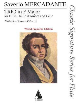 Mercadante Trio F-major Flute-Flauto d'amore (Alto Fiute) and Cello (Score/Parts) (edited by Ginevra Petrucci)