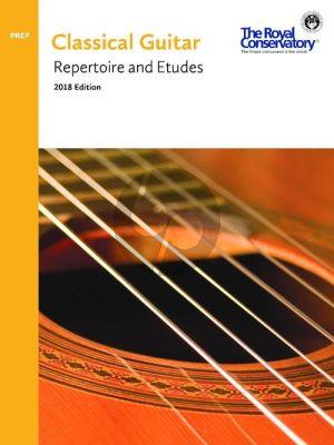 Guitar Repertoire and Etudes Preparatory Book (2018 Edition)
