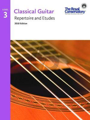 Album Classical Guitar Repertoire and Etudes Vol.3 (2018 Edition)