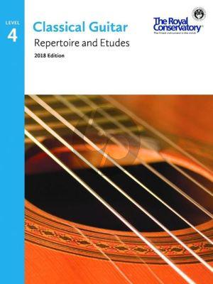 Album Classical Guitar Repertoire and Etudes Vol.4 (2018 Edition)