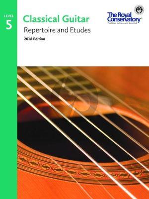 Album Classical Guitar Repertoire and Etudes Vol.5 (2018 Edition)