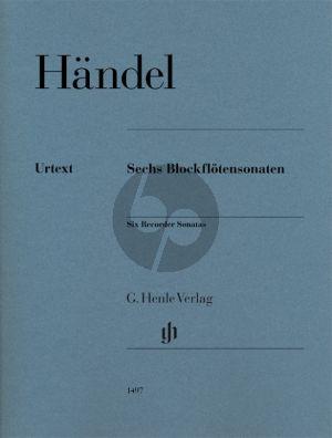 Handel 6 Blockflötensonaten Altblockflöte und Bc (Ullrich Scheideler und Christian Schaper)