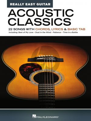 Acoustic Classics – Really Easy Guitar Series (22 Songs with Chords, Lyrics & Basic Tab)