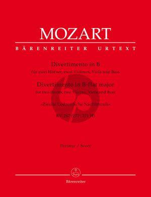 "Mozart Divertimento B-flat major KV 287 (271b, 271 H) ""Zweite Lodronische Nachtmusik"" for 2 Horns, 2 Violins, Viola and Bass (Score) (Albert Dunning)"
