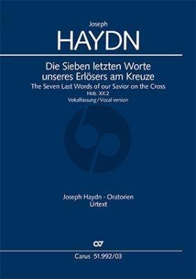 Haydn Die sieben letzten Worte unseres Erlösers am Kreuze, Hob. XX:2 Vokalfassung (Klavierauszug) (Wolfgang Hochstein)