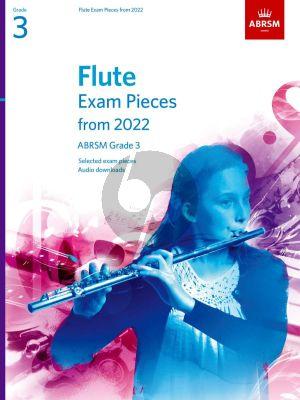 Flute Exam Pieces 2022-2025 Grade 3 (Book with Audio online)