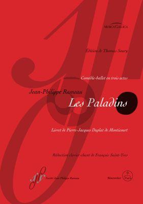 Rameau Les Paladins RCT 51 Comédie-ballet in three Acts Vocal Score