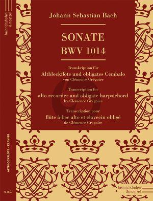 Sonate BWV 1014 für Altblockflöte und Cembalo