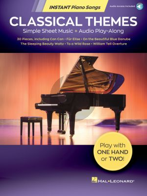 Album Classical Themes  Instant Piano Songs Simple Sheet Music with Online Audio Play-Along