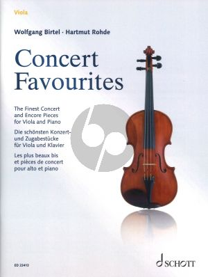 Concert Favourites for Viola and Piano (Edited by Wolfgang Birtel and Hartmut Rohde)