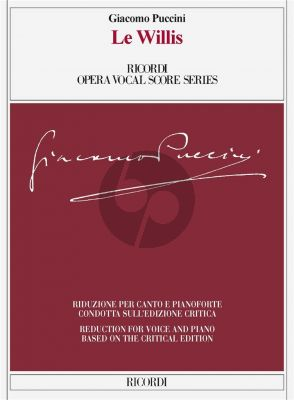 Puccini Le Willis Vocal Score (it./engl.) (edited by Martin Deasy)