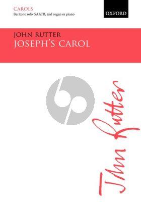 Rutter Joseph's Carol for Baritone Solo, SAATB, & Small Orchestra Vocal Score