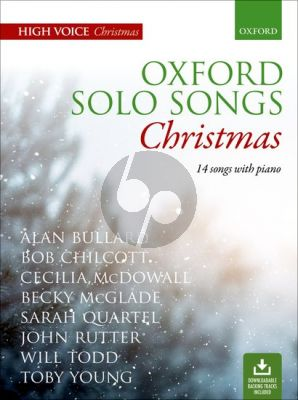 Oxford Solo Songs: Christmas High Voice with Piano (14 Songs) (Book with Audio online)
