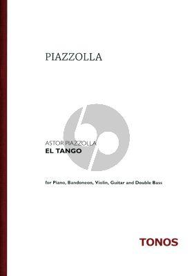 Piazzolla El Tango Rezitator-Klavier-Bandoneon-Violine- Elektr.Git.-Bass Partitur
