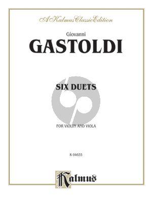 Gastoldi 6 Duets for Violin and Viola