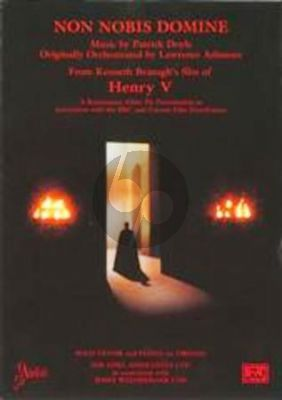 """Doyle Non Nobis Domine Tenor Voice and Piano (from K. Branaghs film """"Henry V."""")"""